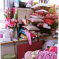 craft room stacked with etsy orders