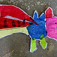 tissue paper dragons