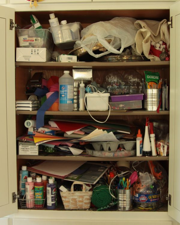 Messy Kitchen Cabinets: Whatever: Craft Cupboard