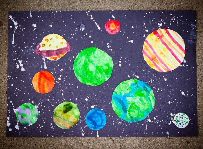 craft thursdays: space paint