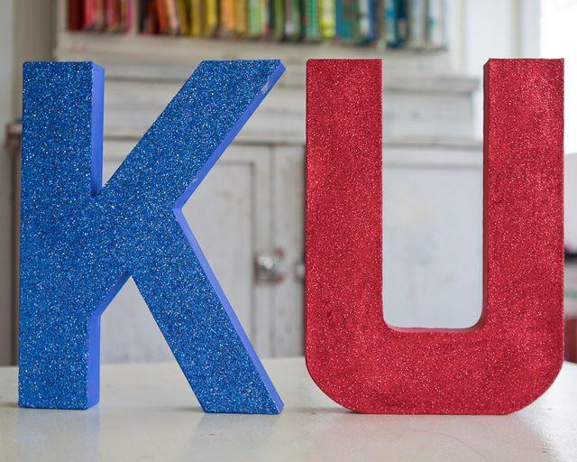 paint&glitter letters