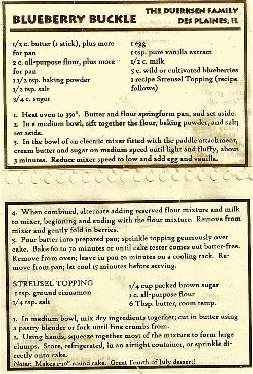 bluberry buckle recipe